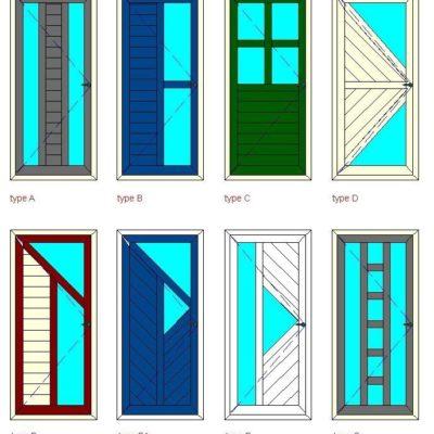 collage voordeuren